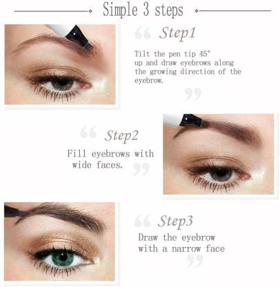 steps to fill eyebrows
