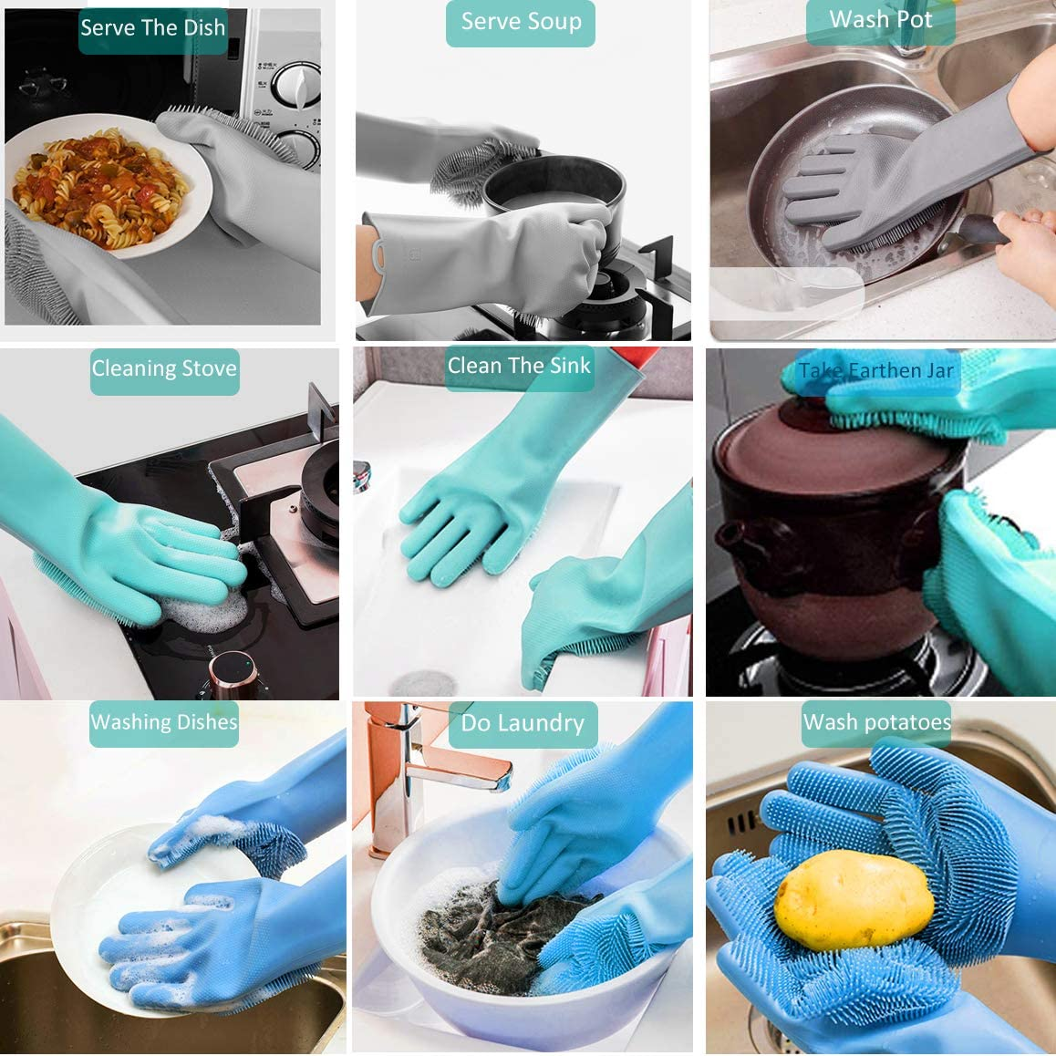 Multifunctional Silicon Hand gloves